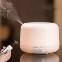 AC 100 240V Remote Control Aromatherapy Essential Oil Diffuser 500ML Large Capacity Ultrasonic Air Aroma Humidifier