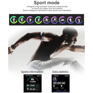 Image 4 - Smart Sport Watch GT98 Heart Rate Men Women Color Bracelet Blood Pressure Fitness Tracker Android IOS Activity Call Message Band