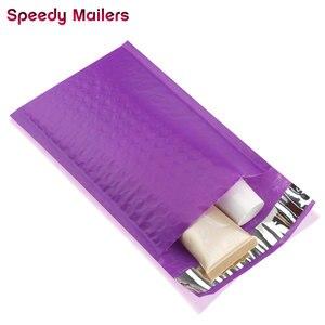 10 шт., фиолетовые полиэтиленовые конверты с мягким вкладышем для быстрой распродажи, 4x8 дюймов