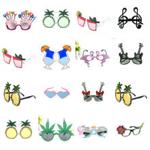 Beach Party Novelty Flamingo Party Decorations Wedding Decor Pineapple Sunglasses Hawaiian Funny Glasses Event Supplies(China)