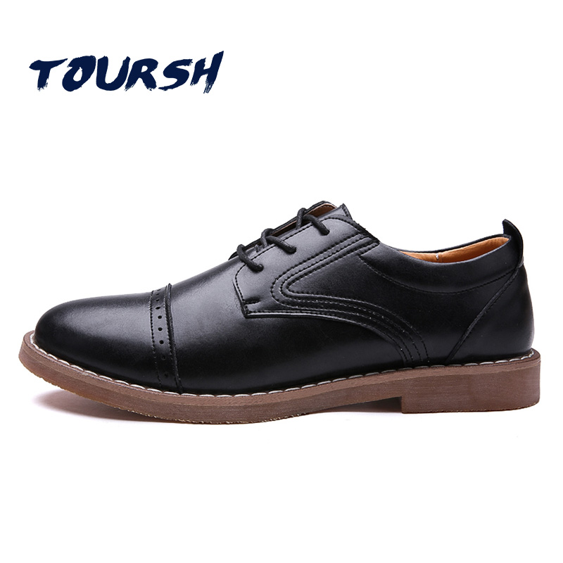 TOURSH British style Men Casual Shoes Spring/Autumn Brogue Shoes Waterproof Lace-up Breathable Oxfords Men Flat Driving Loafers british style men real leather brouge shoes boys new spring zip retro casual shoes craved wing tips flat man oxfords