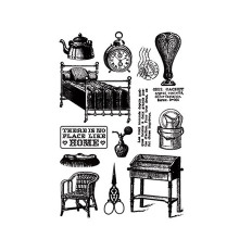 New Home Clock Bed Chair Clear Stamps for Scrapbooking DIY Silicone Seals Photo Album Embossing Paper Maker Template Crafts