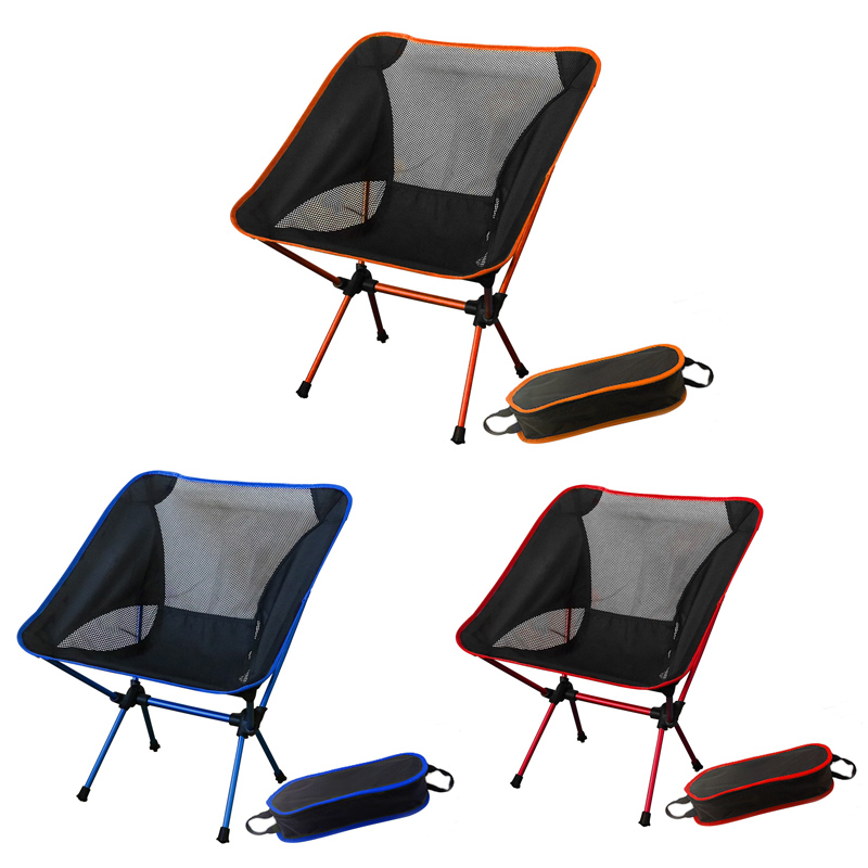 Folding Portable Fishing Chairs Barbecue Camping Stool Breathable Backrest Outdoor Beach Super Light Beach Picnic Chair detachable folding reclining chair portable beach chair outdoor fishing chairs
