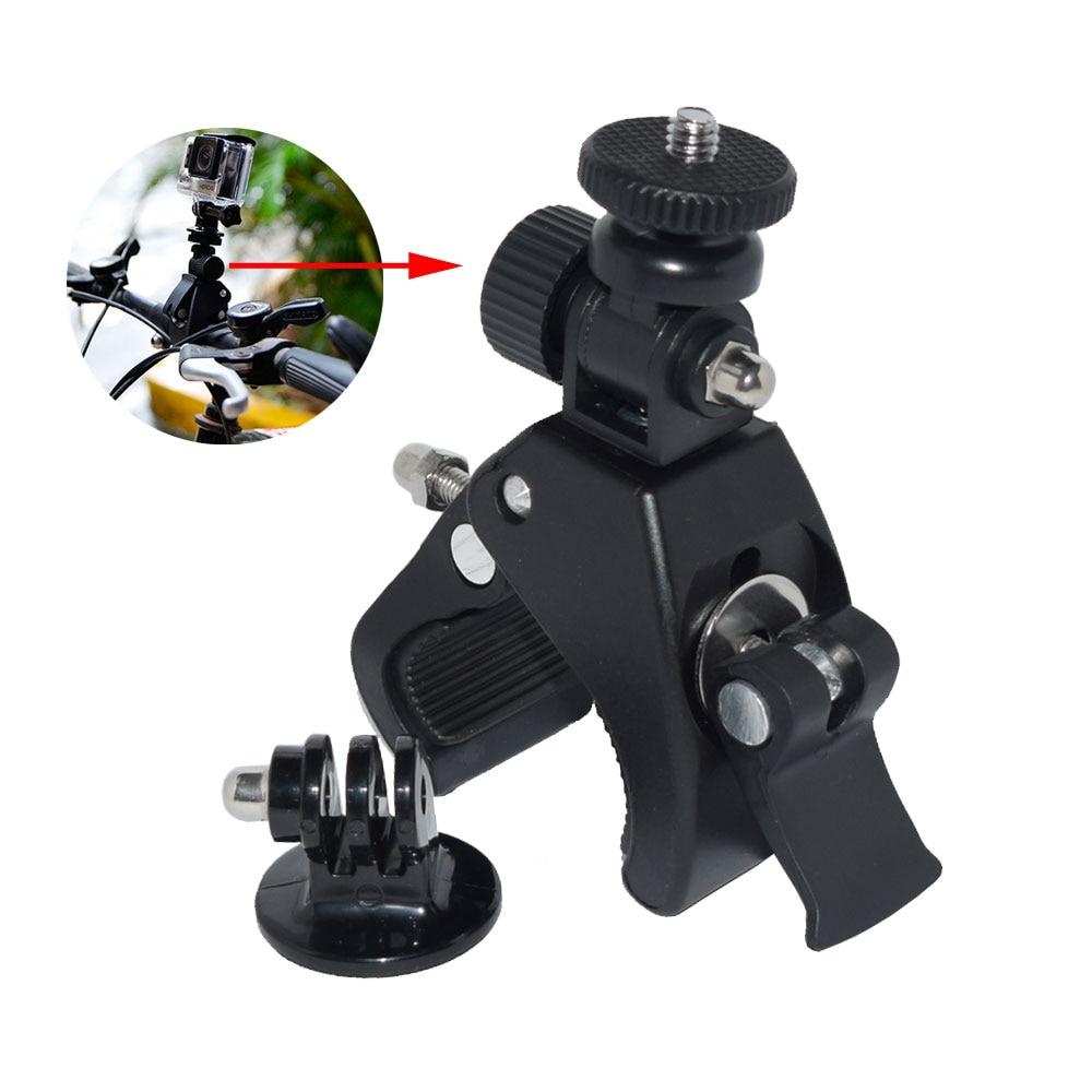 Galleria fotografica Bicycle Mount Holder Motorcycle Handlebar Handle Bar+Tripod Adapter for SJCAM SJ6 SJ7 Eken H9R Xiaomi Yi 4K Sport Action Camera