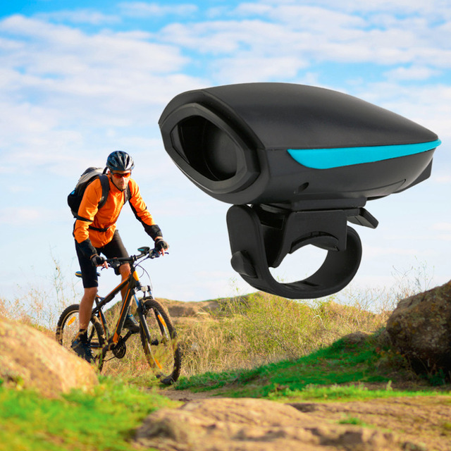 Bicycle Bell Waterproof Loud Cycling Electric Horn 140 db Bike Handlebar Ring Strong Loud Alarm Bell Sound Bike Horn Safety