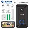 EKEN V6 смарт WiFi видео дверной звонок камера IP дверной звонок беспроводной домашний визуальный домофон приложение управление камера безопасн...