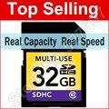 64 GB 32 GB 16 GB 8 GB Cartão SD Classe 10 SDXC SDHC Flash cartão de memória real capacidade de cartões de câmera para canon nikon digital slr câmera