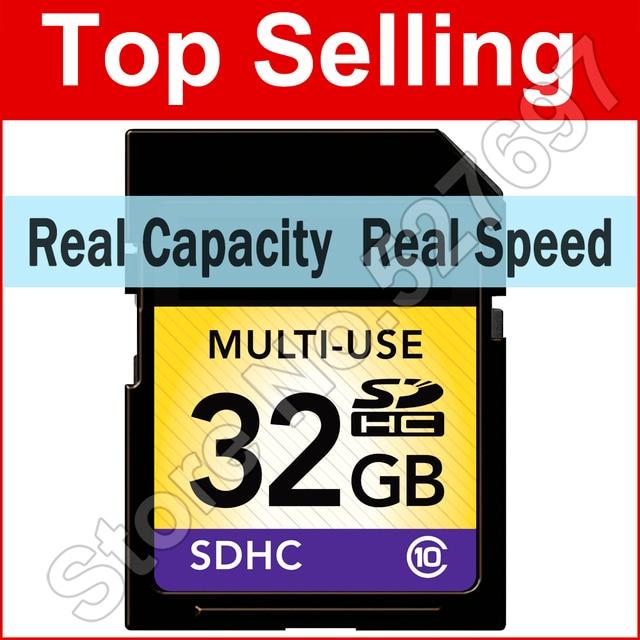 64GB 32GB 16GB 8GB SD Card Class 10 SDXC SDHC Flash Memory Card Real Capacity Camera Cards For Canon Nikon Digital SLR Camera