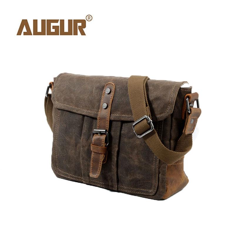AUGUR 2018 Vintage Multi-functional Canvas Business Bag Men Canvas Bag Shoulder Bags Leisure Messenger Bag For Men Women