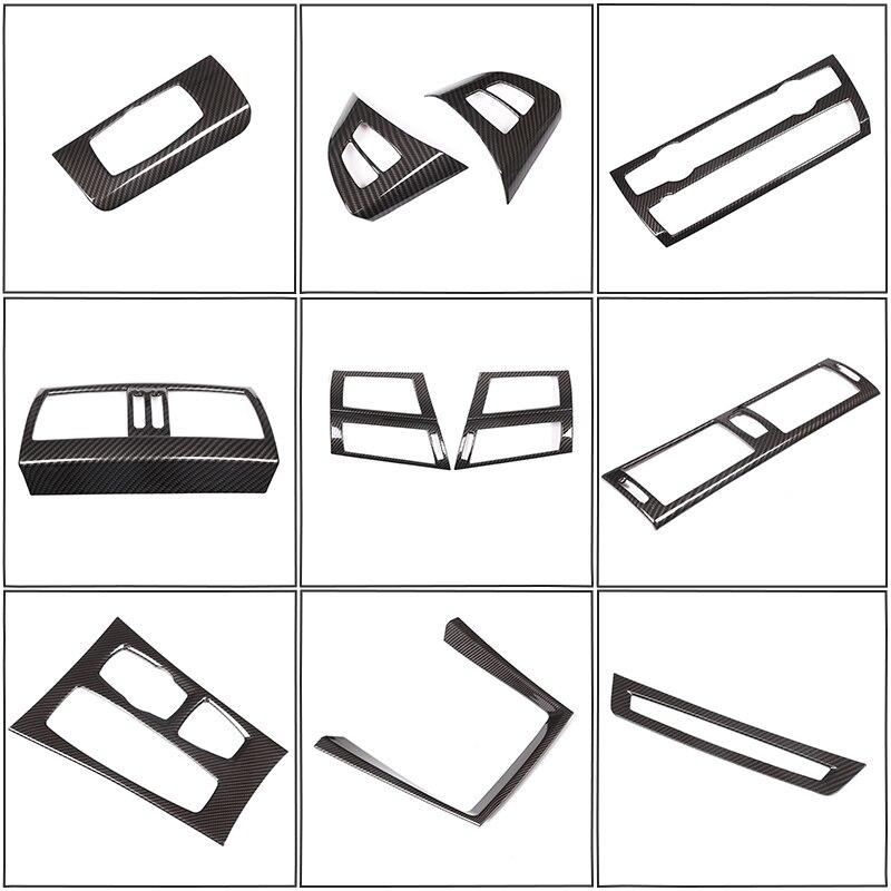 Acessórios do carro De Fibra De Carbono Estilo Para BMW X5 X6 E70 E71 2008-2013 ABS Moldura de Decoração Interior Do Carro Tira capa Guarnição Adesivo