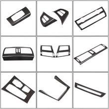 Accessoires de voiture Style Fiber de carbone pour BMW X5 X6 E70 E71 2008-2013 ABS décoration intérieure de voiture bande cadre couverture autocollant