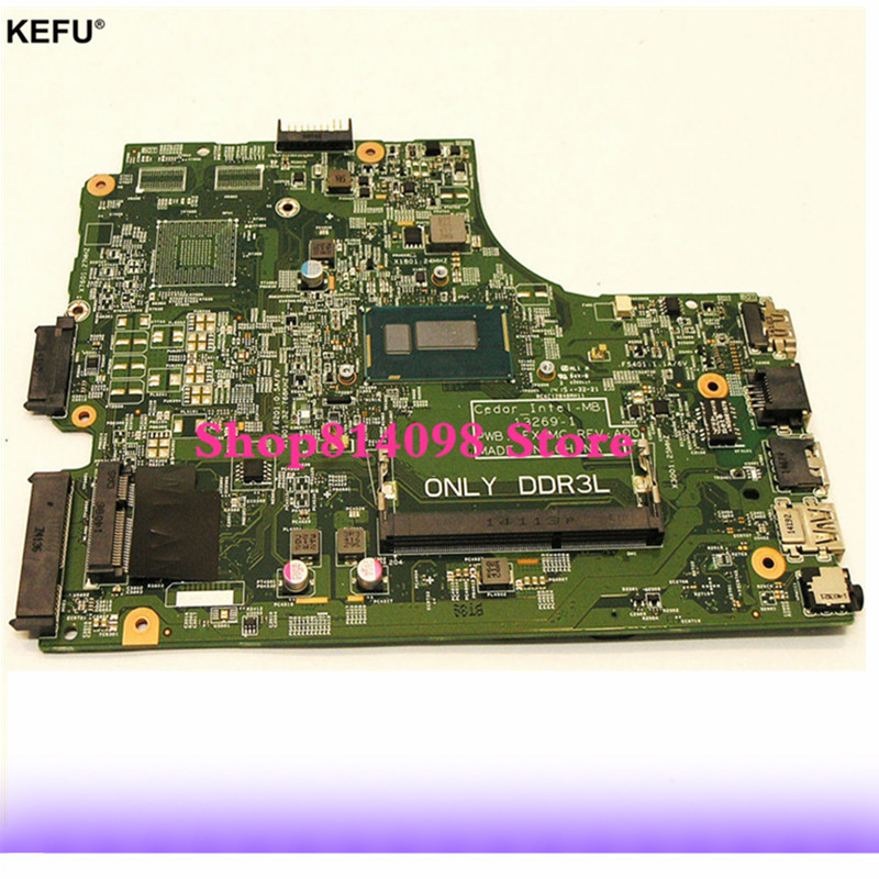 KEFU CN-0P34KX FIT FOR Dell Inspiron 15 3442 3443 3542 3543 5748 5749 Laptop Motherboard 13269-1 FX3MC REV:A00 3558U mainboard inspiron 3542