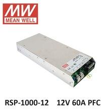 Блок питания 12 вольт RSP-1000-12 Meanwell СВЕТОДИОДНЫЙ драйвер 12 В 60A 720 Вт PFC функция Переключения питания освещения трансформатор для света Прокладки СИД 12 В