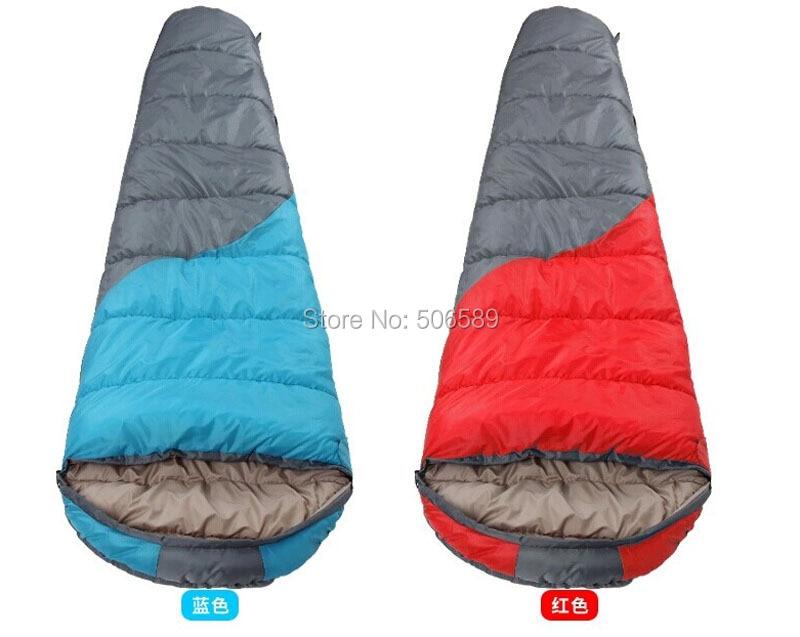 ФОТО free shipping camping hiking sleeping bag mummy type sleeping bag 210x75x50 1.45KG