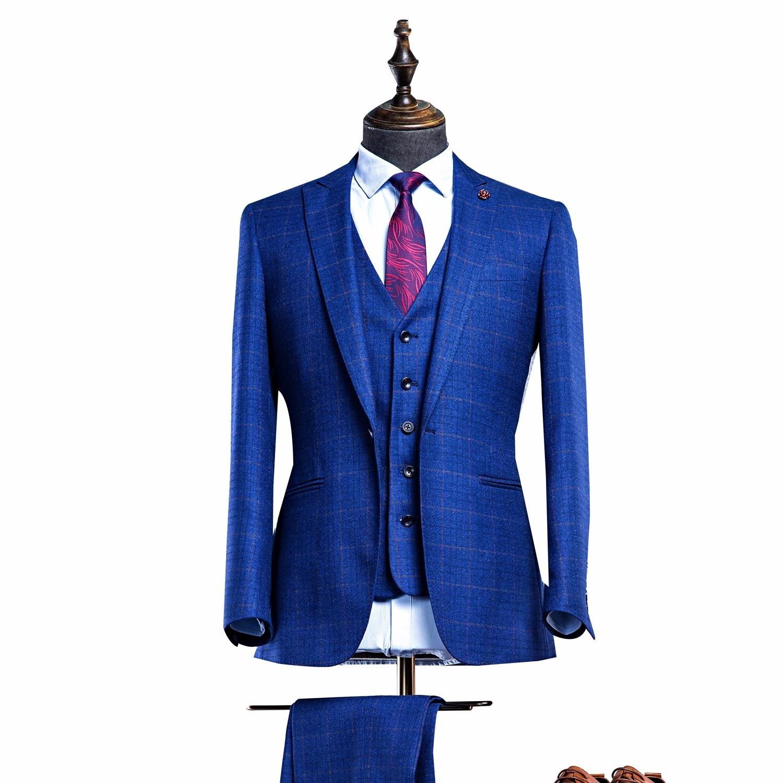 OSCN7 3 unidades traje sólido Foe hombres Slim Fit negocios trajes de boda  para los hombres Caballero traje Mariage Homme Terno Masculino s-3XLUSD  118.80  ... e2a2d25c9e9
