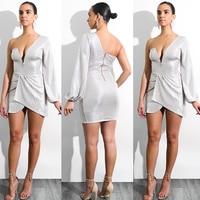 Fashion Women Sexy Mini Wrap Dress Summer Long Sleeve Dresses Vestidos Elbise Short Clothes Women Online