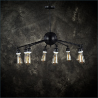 Retro Industry Heavy Black Iron Pendant Lights Cafe Hall Dedicated Pendant Lights In Foreign Trade Lighting
