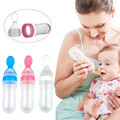 New Hot Silicone Baby Spoon Training Scoop Feeding Rice Cereal Bottle Baby Feeding Spoons Cucharas Para Bebes 90ml