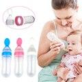Nueva Caliente de Silicona Formación Cuchara de Cereal de Arroz Cuchara de Alimentación Del Bebé Botella de Alimentación Del Bebé Cucharas Cucharas Para Bebes 90 ml