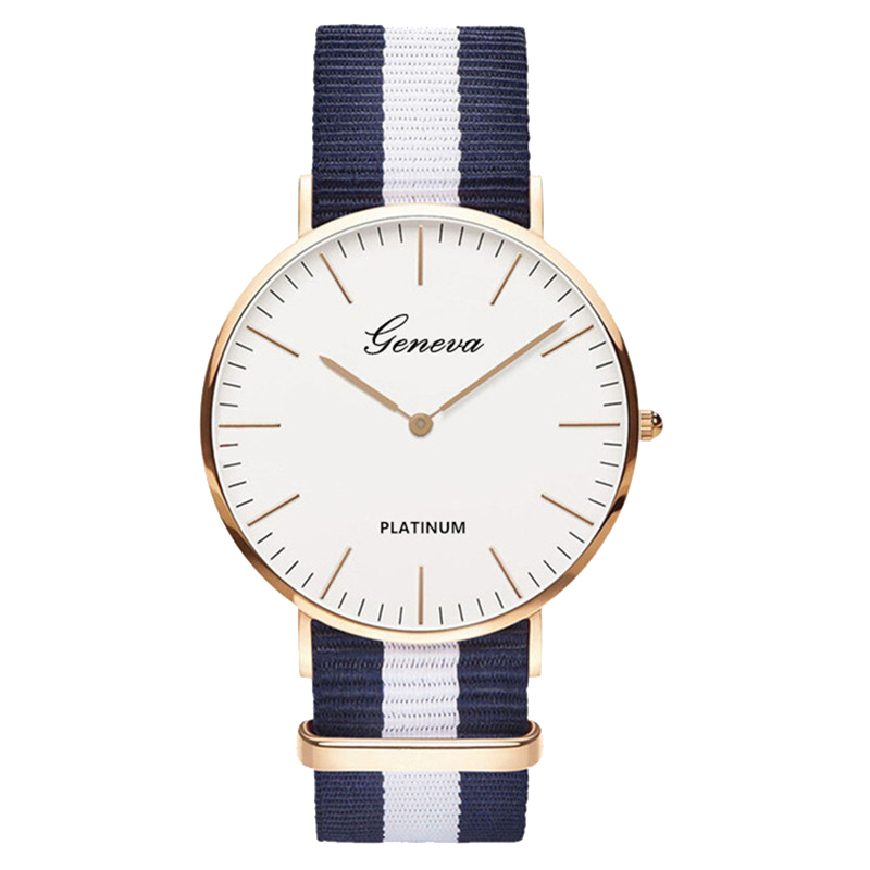 Heißer Verkauf Nylon gurt Stil Quarz Frauen Uhr Top Marke Uhren Mode Lässige Mode Armbanduhr Uhren