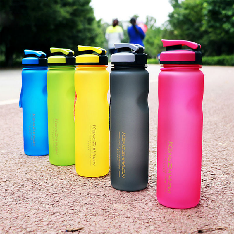 Botella de agua Agua Botella de 1000 ml De Plástico Botella de Agua de Los Deportes Taza Espacio Bici Al Aire Libre Ciclismo Beber Agitador Botellas de Infusión de Frutas Botellas Para Agua Garrafa De água