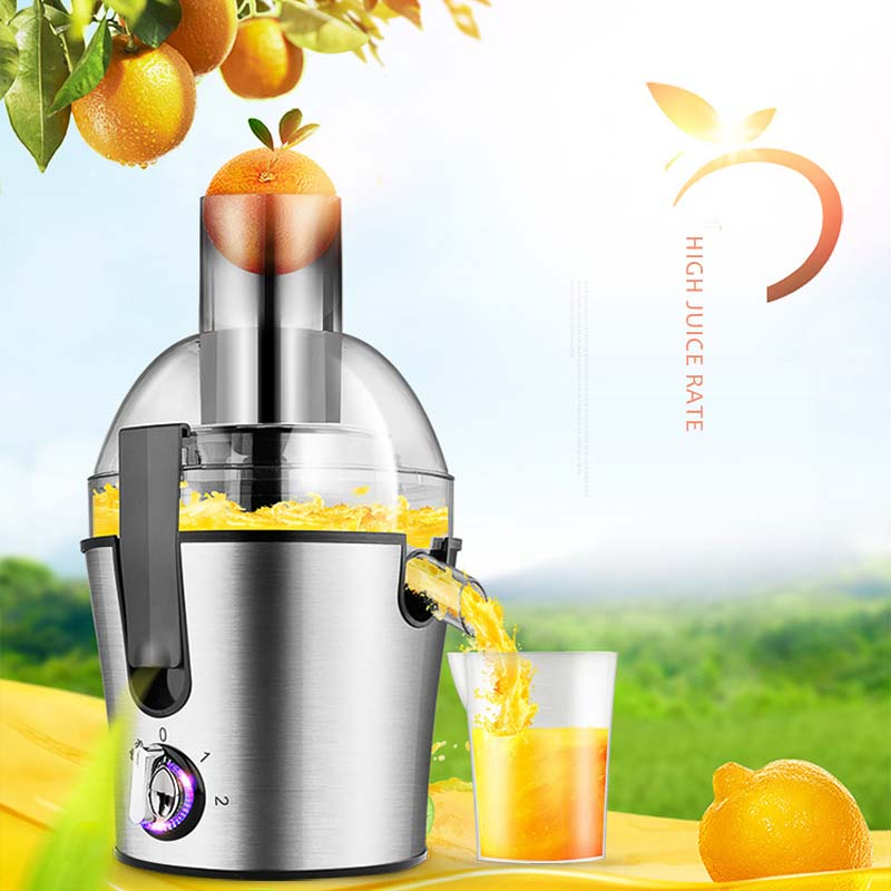 New Multifunctional Household Large Capacity Stainless Steel Round Fruit and Vegetable Juice Machine Slag Juice Separation SaleNew Multifunctional Household Large Capacity Stainless Steel Round Fruit and Vegetable Juice Machine Slag Juice Separation Sale