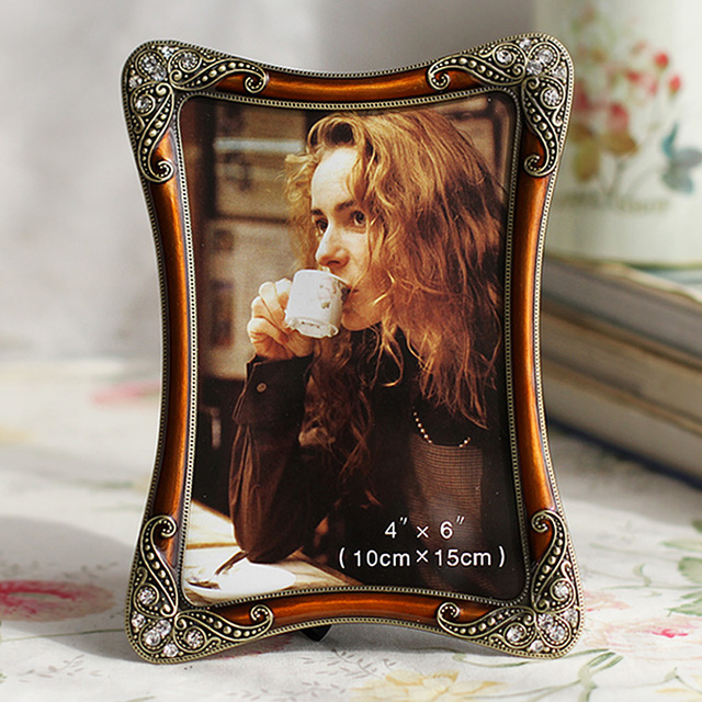 Hot Sale Vintage Photo Frame Wedding Gift Metal Alloy Wedding
