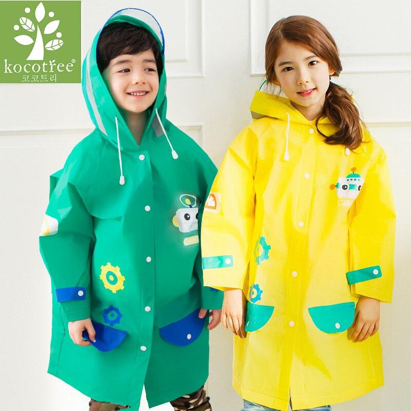 aa76a2be6 Student Cartoon Raincoat Baby Children Kids Girls boys rainproof ...