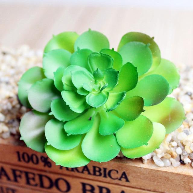 Mini Potted Artificial Green succulent plants Bonsai set fake Flower vase  Decorative Flower Home Balcony Decoration