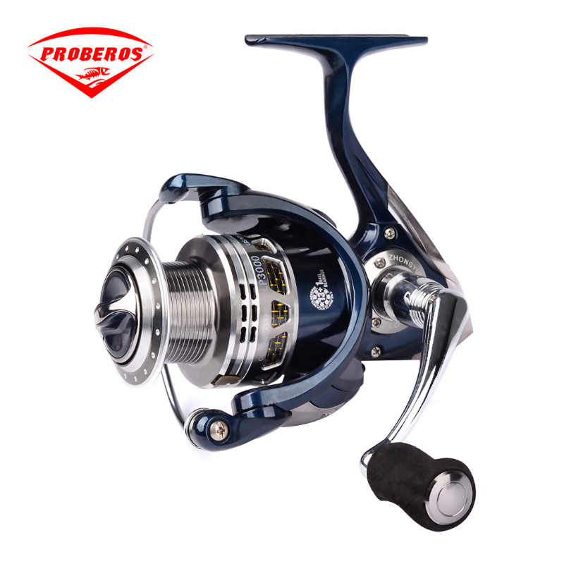 купить PRO BEROS Aluminum alloy Fishing Reel 14BB 1000 - 4000 series spinning reel for feeder fishing Foam cotton handle fishing reels по цене 2757.61 рублей