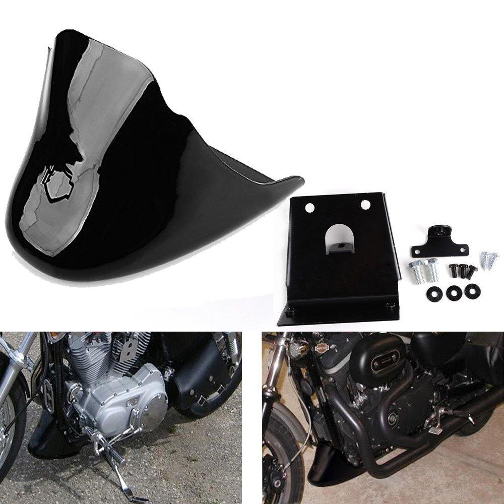 Для Харлей Дэвидсон Спортстер XL883 XL1200 2004-2014 размере XL 883 1200 черный глянец передний Нижний спойлер крыло воздуха плотины подбородок обтекатель