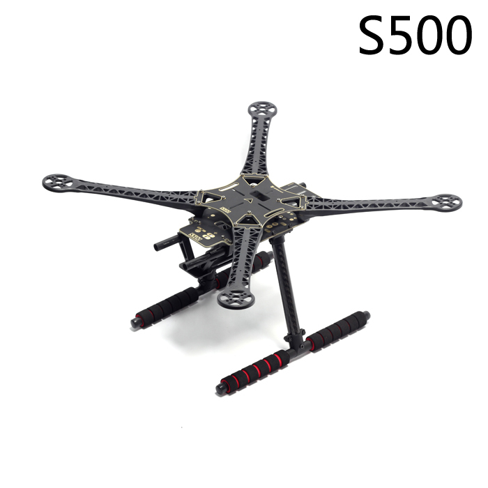 S500 500mm PCB Version Multi-Rotor Air Frame Kit W/ Landing Gear or Retractable Skid for FPV Quadcopter SK500 Updated Version hml350pro fpv auto retractable landing gear skid controller for phantom 1 2 vision fc40 rc quadcopter diy drone f16326