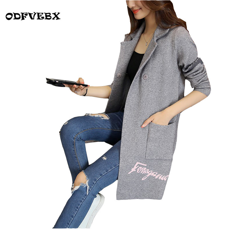 Selling new women sweaters knit cardigan Fashion printing long-sleeved middle-aged suit collar loose coat clothes ODFVEBX HY95