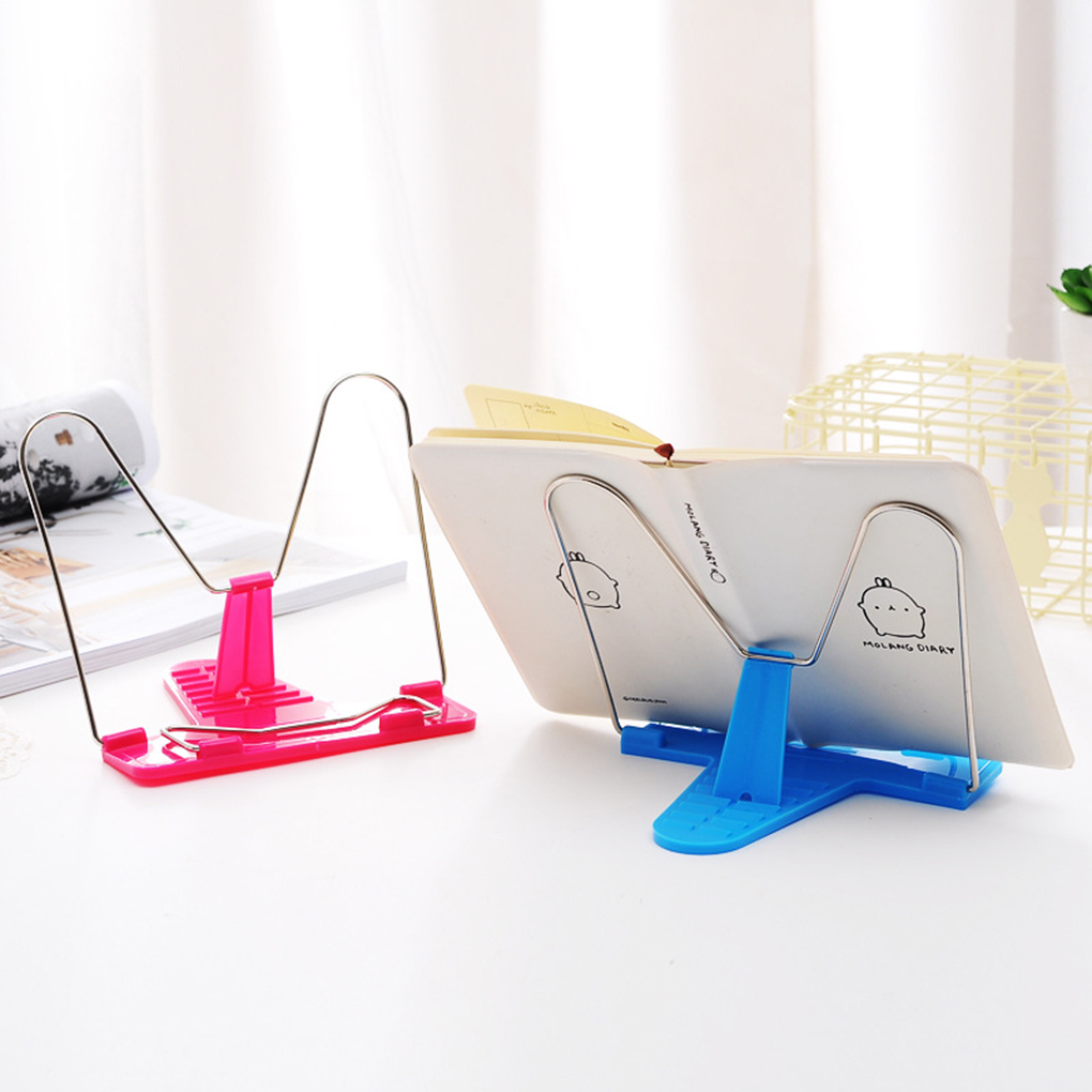 1pcs Portable Folding Bookend Book Stand Reading Holder Book Holder School Office Stationery For Student Studying