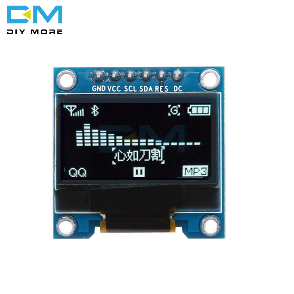 0.96 Inch 6Pin IIC I2C SPI Interface OLED White LCD Display Module For Arduino Raspberry Pi SMT32 128X64 Interface SSD136 Board