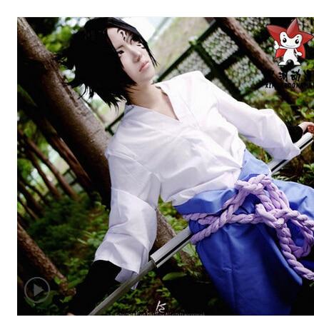 Free Shipping New Naruto Uchiha Sasuke Cosplay Costume Halloween Costume