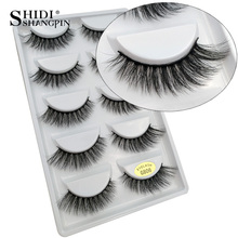 SHIDISHANGPIN 5 pairs eyelashes 3d mink lashes natural long 1 box mink eyelashes 1cm-1.5cm 3d false eyelashes full strip lashes