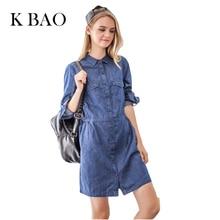 2017 Spring Autumn Sexy Slim Women Blue High Waist A-Line Dress Girls Dresses Casual Mini Denim Dress
