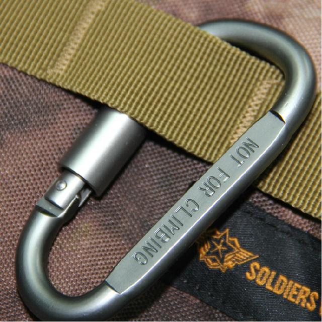 1pcs Outdoor Camping Equipment Aluminum Carabiner Hunting Equipment Survival Kit Lock Carabine Mountain Travel Accessories