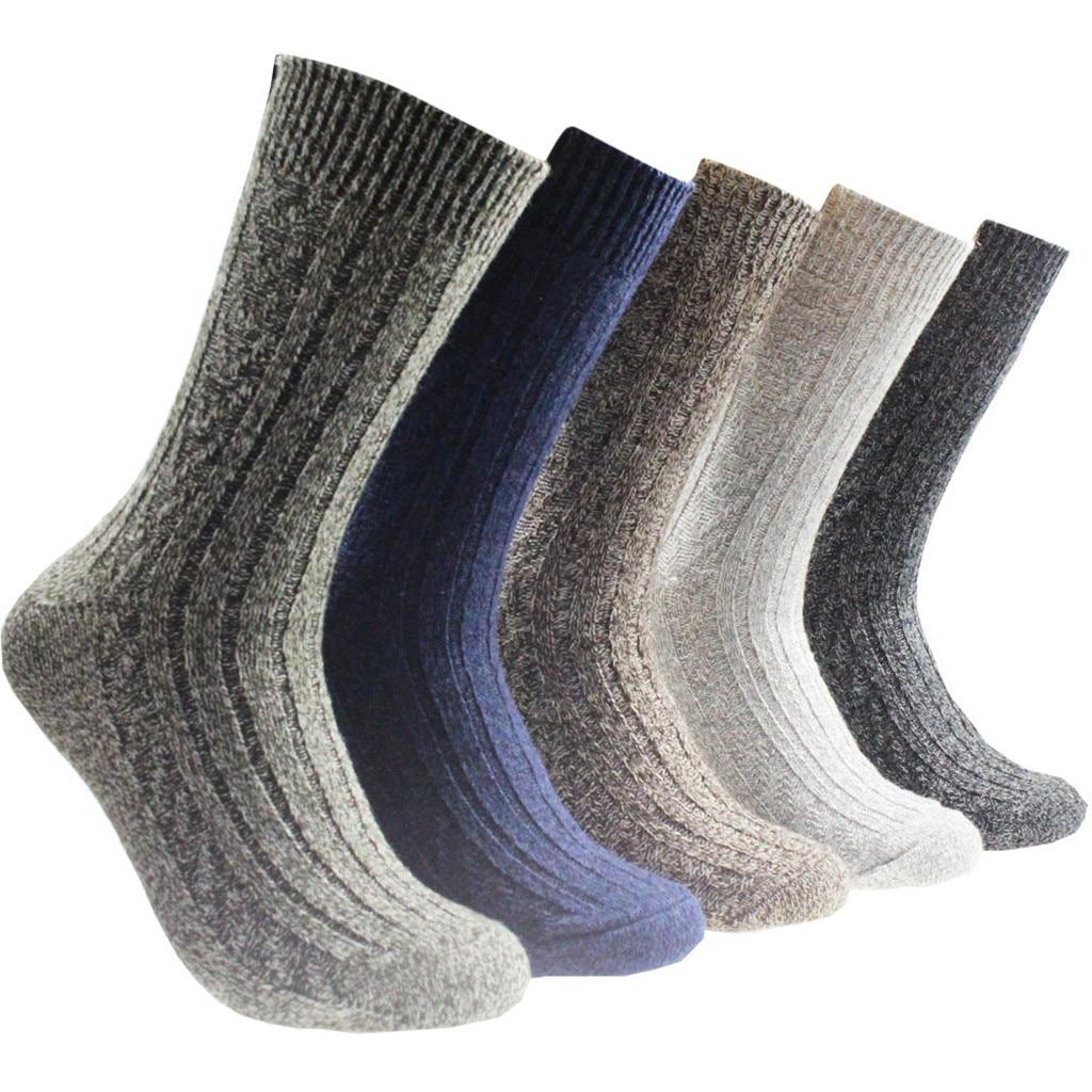 new design winter warm 5 Pairs Men Winter Warm Vintage Floor Socks Pattern Male