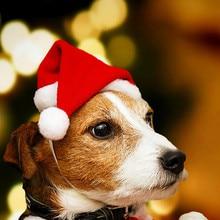 1 шт., Рождественская шляпа для животных, шапка Санта-Клауса, маленький щенок, кошка, собака, праздничный костюм, шляпа, загруженная рождественскими милыми ювелирными изделиями, высокое качество, 4