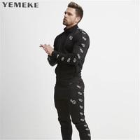YEMEKE 2017 Men S Autumn Winter New Fashion Line Gyms Hoodies Sweatshirts Loose Coat Men Wear