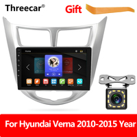 mirror link for android phone Autoaudio Multimedia Player MP5 Player Autoradio For Hyundai Verna Solaris 2010 2015 Rear View Cam