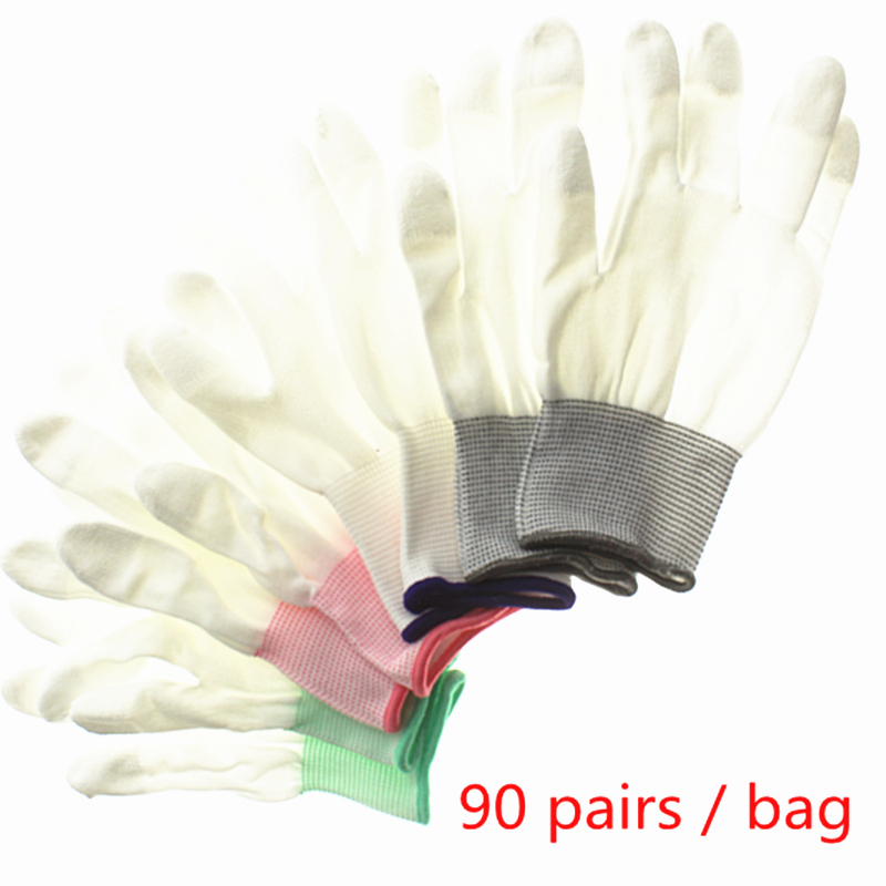 90pair Antistatic Gloves Anti Static ESD Electronic Working Gloves pu coated palm coated finger PC Antiskid for Finger Protectio