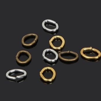 Beadia 4-7mm anillos de salto abiertos chapados en oro/plata/bronce para collares pulseras joyería DIY accesorios conclusiones