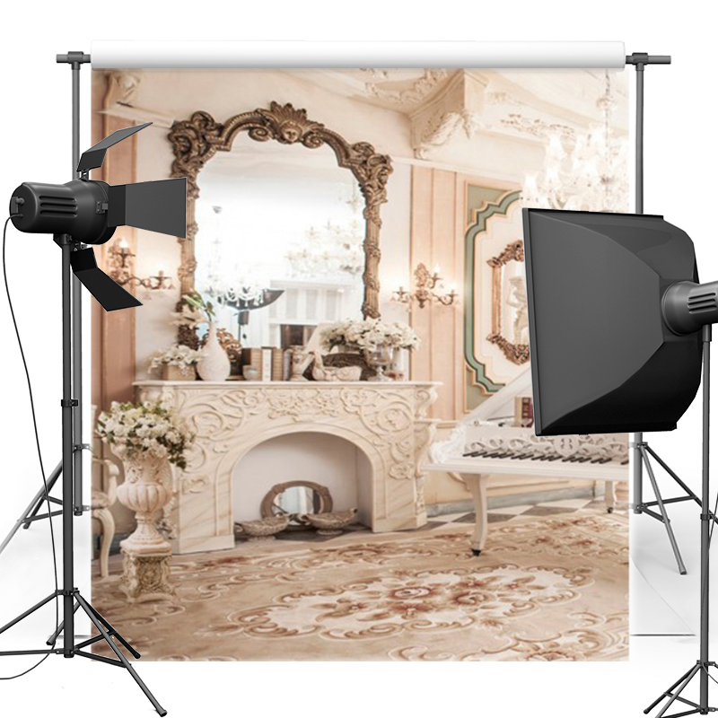 Sumptuous Room Vinyl Photography Background Indoor Oxford Backdrop For Wedding Photo Studio Props 6563