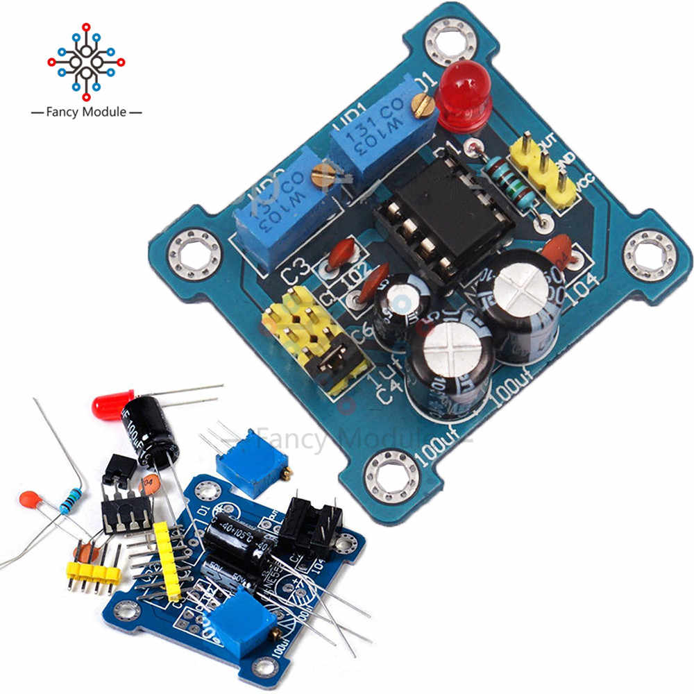 Adjustable NE555 Pulse Frequency Adjustable Module Duty Cycle Module Square Wave Signal Generator DIY Kit