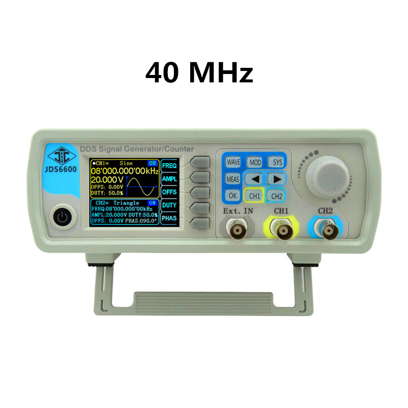 10pcs/lot JDS6600 Control Dual-channel DDS function Generator Arbitrary Waveform Frequency Signal Generator 40MHZ 40% off