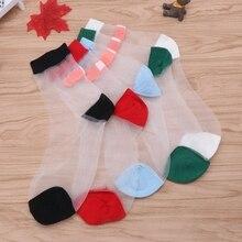 Женские носки, модные летние повседневные женские носки Harajuku, симпатичная повязка, лоскутный стиль, японский стиль