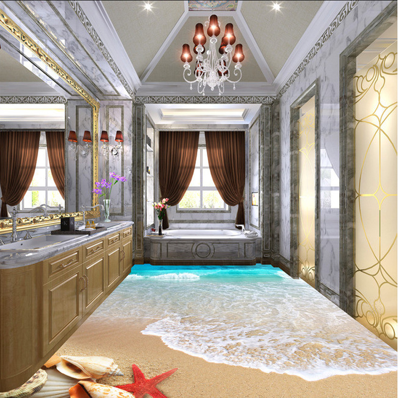 3d fliesen badezimmer boden 3d realistisch Wasserfall bodenfliese - 3d badezimmerboden